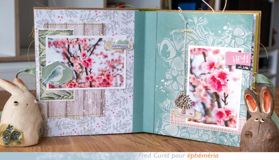 """différentes pages du Mini album """"Hanami"""" by Fred pour éphéméria"""
