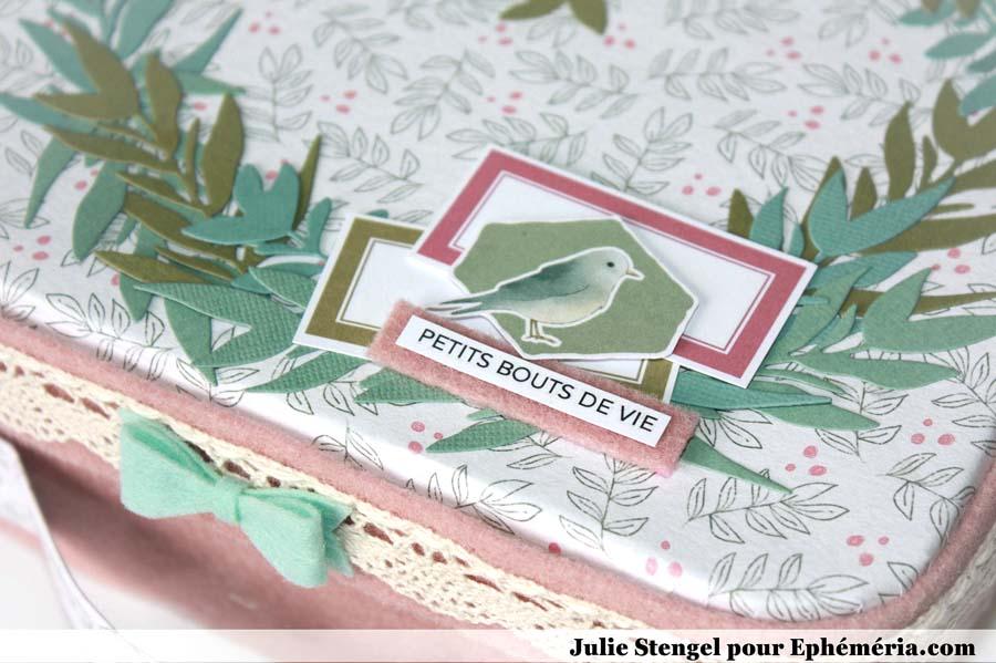 Valisette verte et rose home déco by Julie pour éphéméria - détail