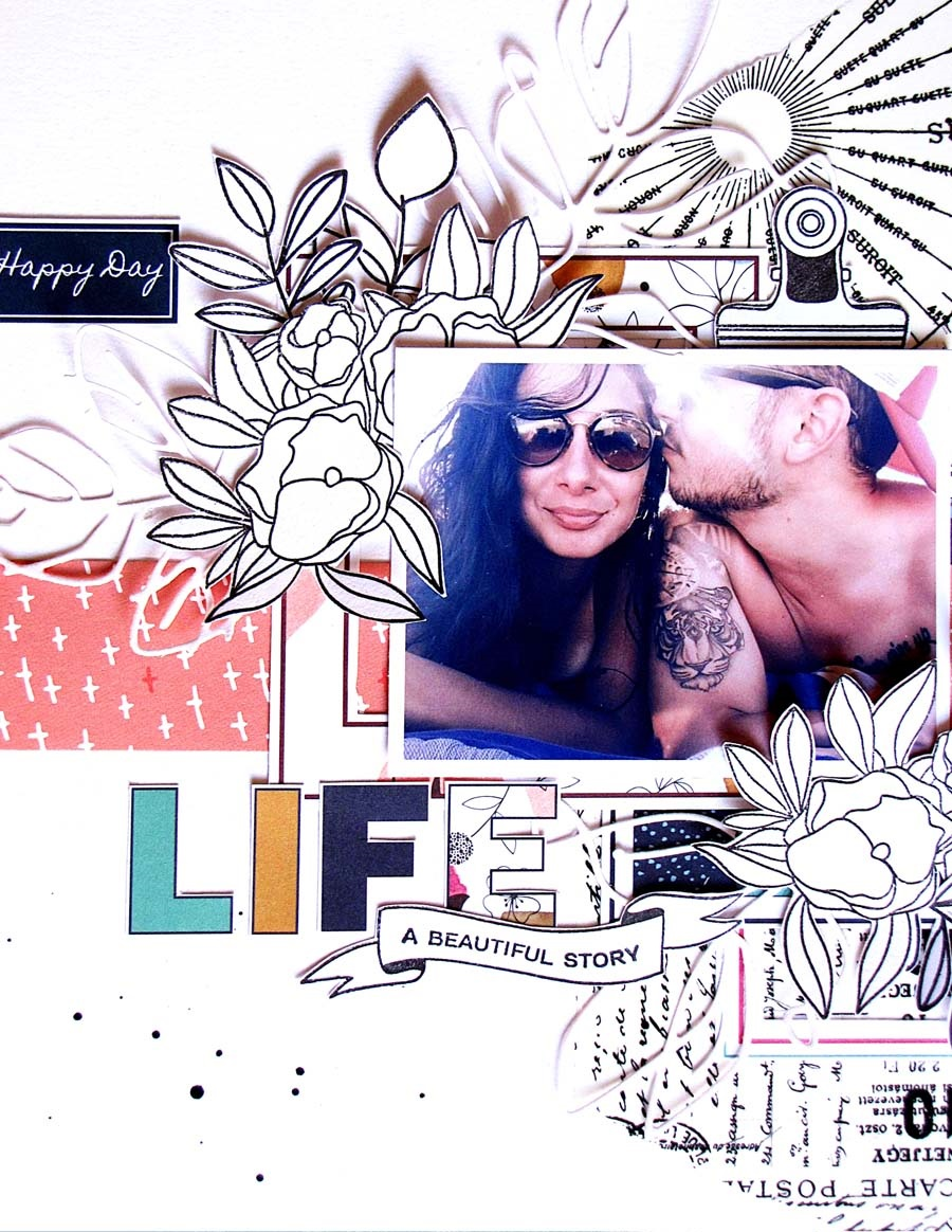 """page """"Life in colours"""" par Jas pour éphéméria"""