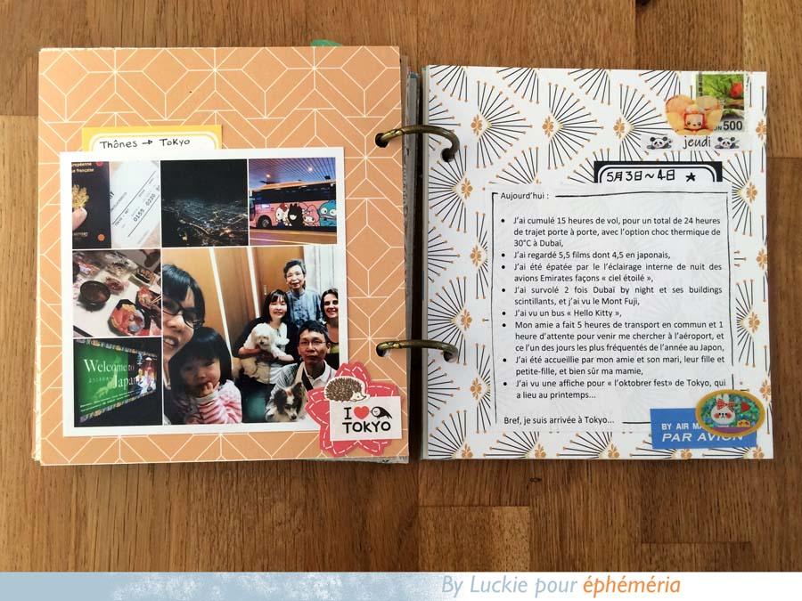 Mini album japonais en scrapbooking by Luckie pour éphéméria