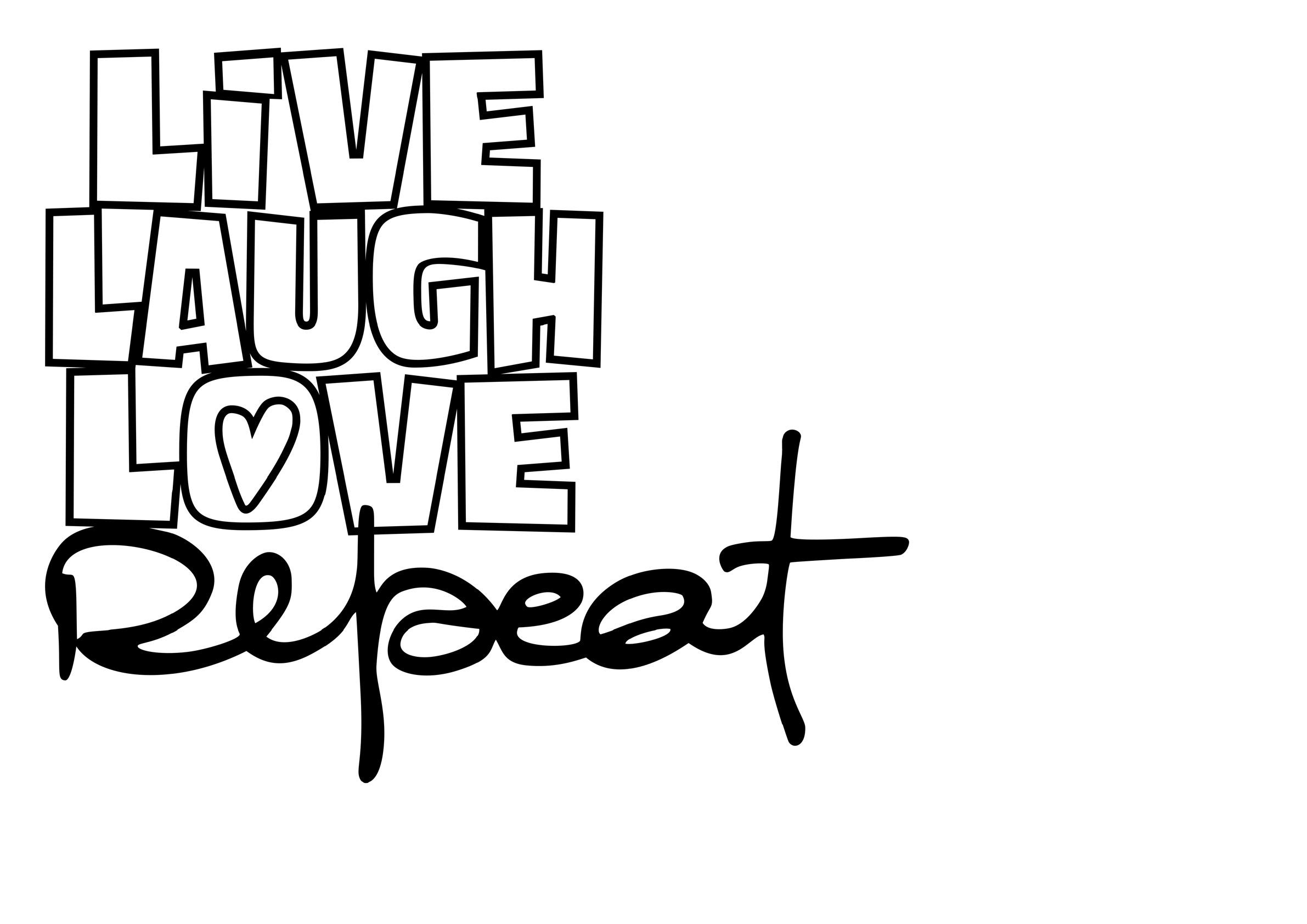 """image de découpe """"live laugh love repeat"""" offert par Fred"""
