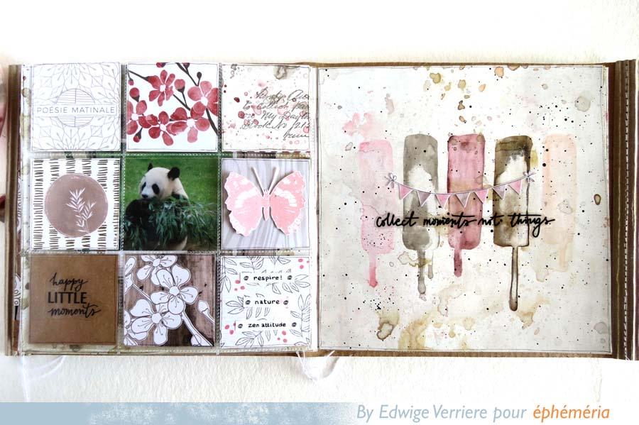 mini album en scrapbooking thème asiatique par Edwige pour éphéméria