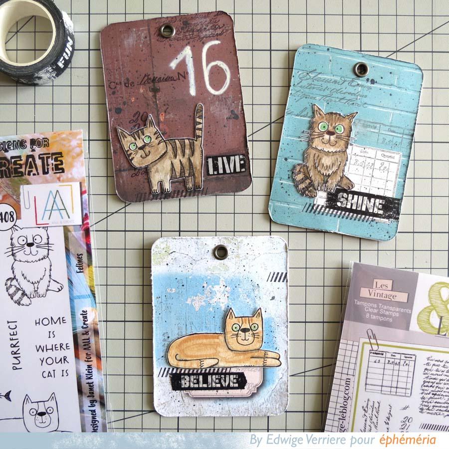 tags réalisés par Edwige avec des cartes PL
