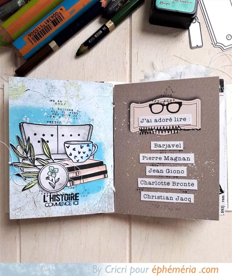 Mini album avec des cartes PL par Cricri pour éphéméria